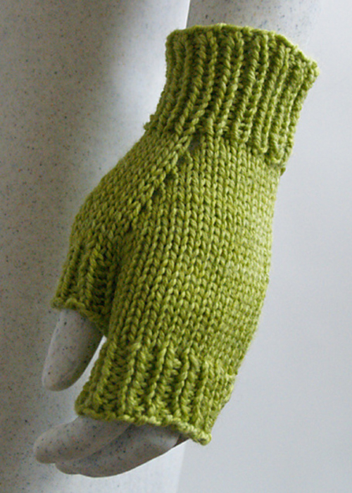 Perfect Texting Mitts - Knitting Pattern