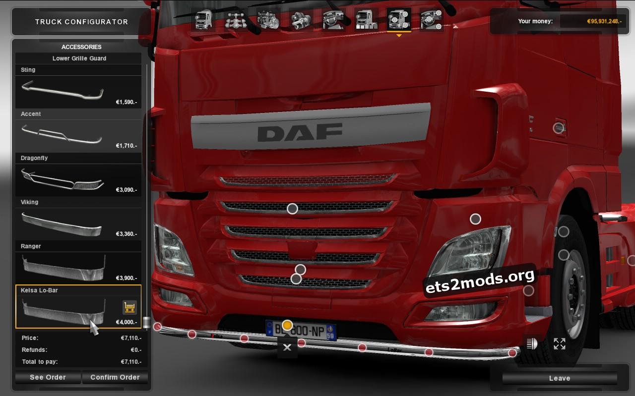 DAF Euro 6 - Kelsa Bars