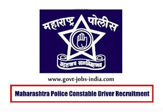 Maharashtra Police Constable Driver Recruitment
