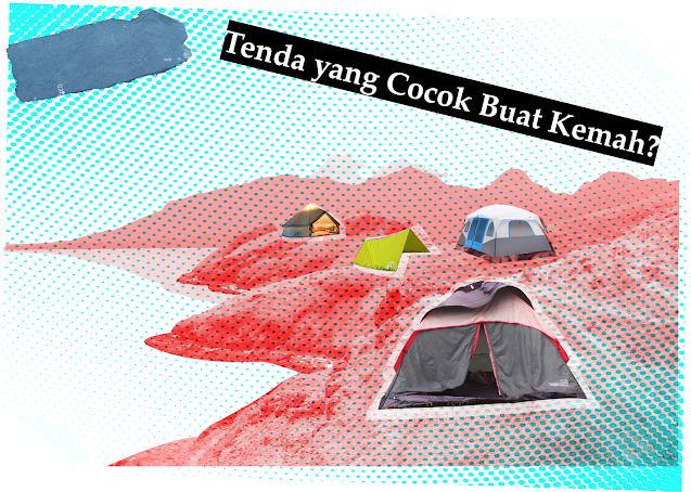 Berbagai macam tenda untuk traveling