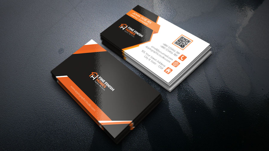 professional real estate business card design in photoshop