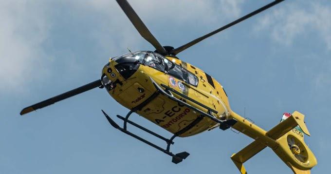 Baleset történt egy bátonyi gyárban: mentőhelikopter érkezett a sérültért