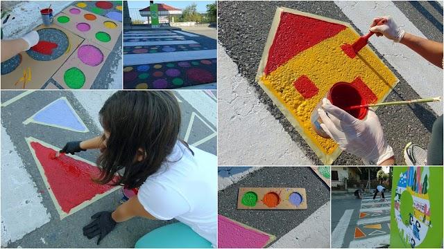 Οι ζωγραφισμένες ...διαβάσεις έξω από σχολεία στα Γρεβενά