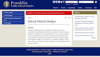 Franklin, MA:  Town Council Budget Subcommittee Meeting - Sep 16, 2020