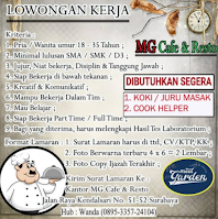 Info Loker Surabaya di MG Cafe dan Resto Juni 2021