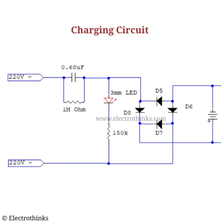 Mosquito Killer Bat Circuit Working Explanation - ElectrothinksElectrothinks