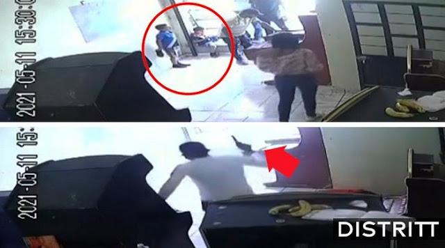 Video: Frente a la mirada de sus hijos Sicario entra a local de maquinas traga monedas y sin mediar palabra ejecuta y remata a pareja