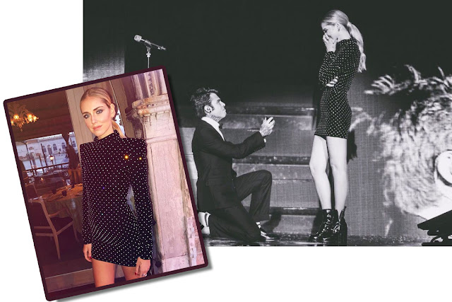 Chiara Ferragni engagement dress