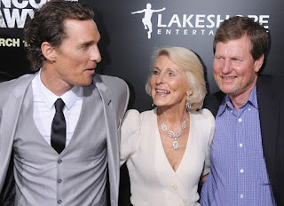 Pat McConaughey with brother Matthew and mom