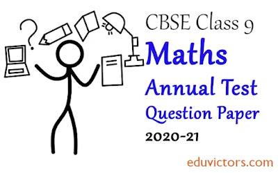 Class 9 Maths Annual Sample Question Paper  (Set-1) 2020-21 (#eduvictors)(#class9Maths)(#cbsepapers)