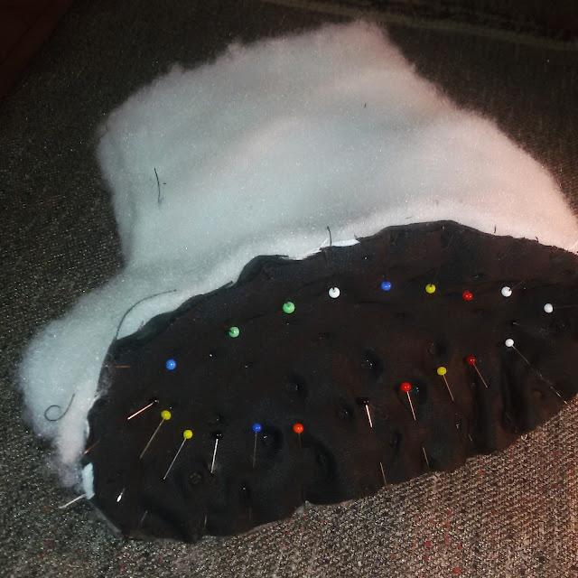 elementy wykroju bucika dla dziecka z ocieplenie