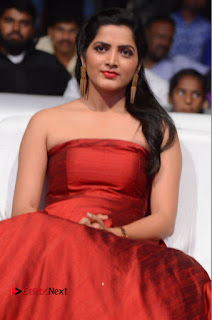 Actress Pavani Pictures in Red Long Dress at Jo Achyutananda Movie Audio Launch  0037.JPG