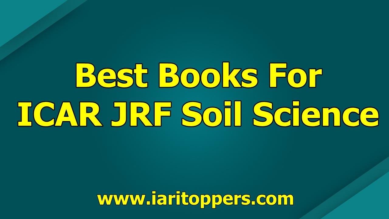 Best Books For ICAR JRF Soil Science