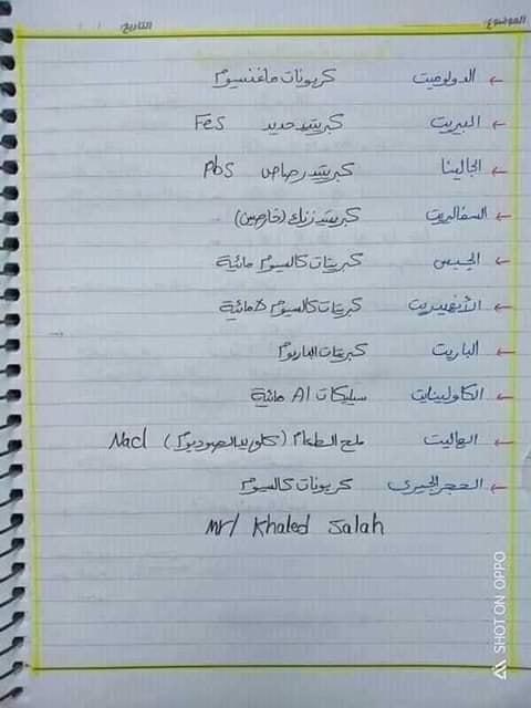 مراجعة جيولوجيا للصف الثالث الثانوي  أ/ خالد صلاح 4