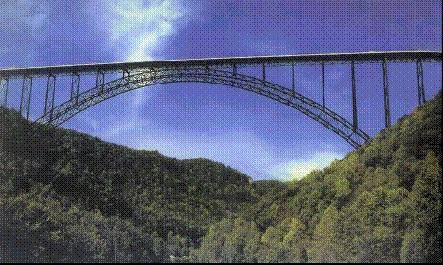 Puente de acero doble arco en celosía Tablero Superior