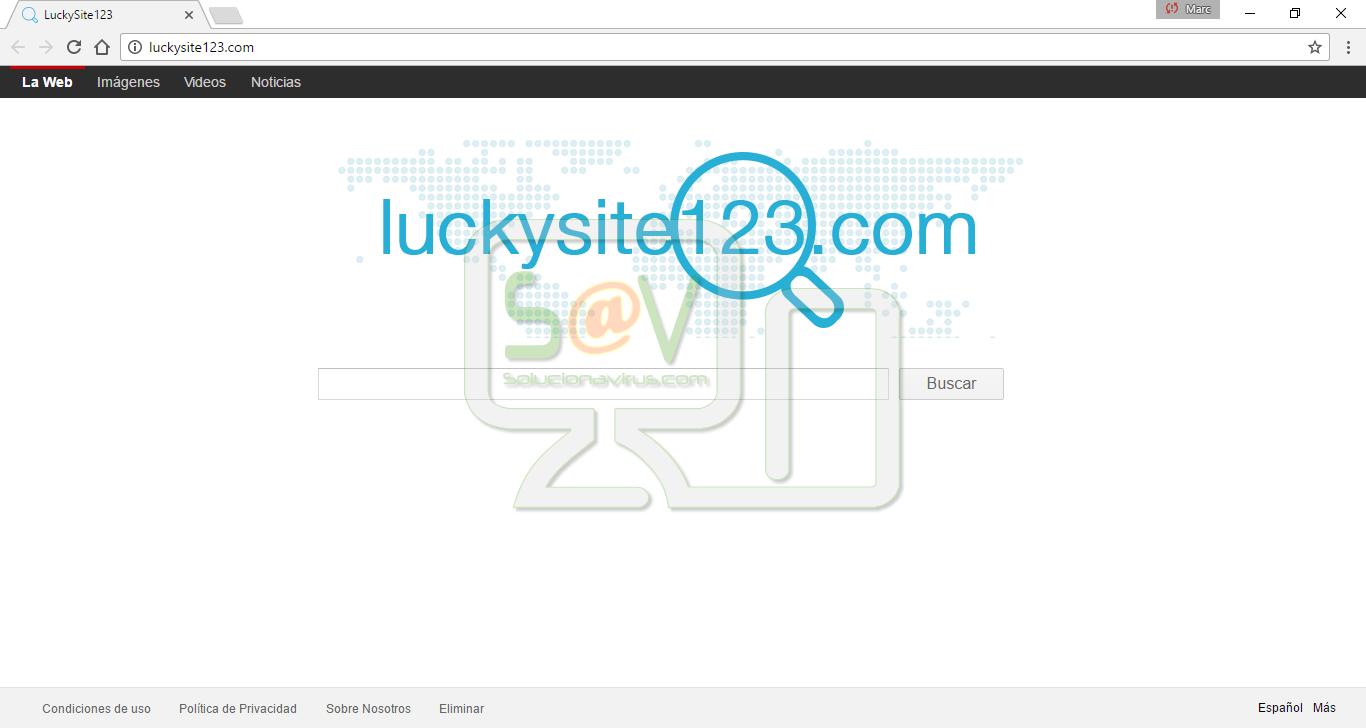 Eliminar Luckysite123.com (Hijacker) - Solucionavirus.com