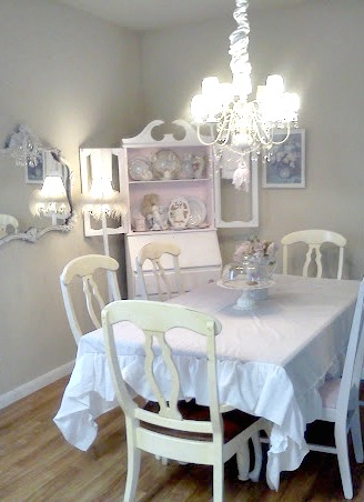 shabby chic dining room furniture | Olivia's Romantic Home: Shabby Chic Dining Room