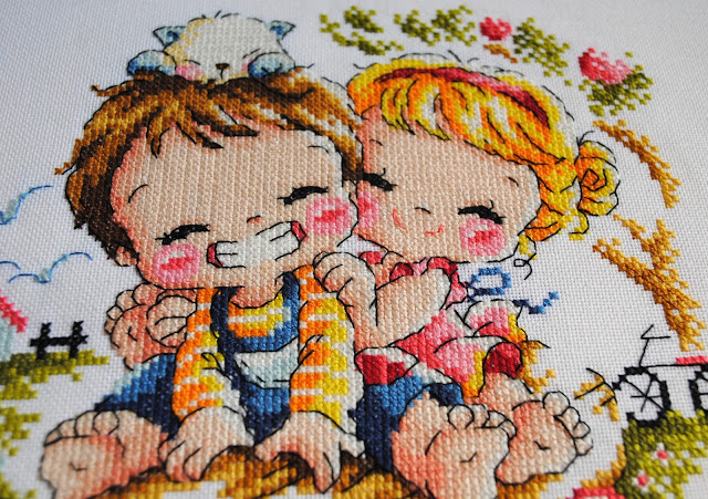 Soda Stitch Cross Stitch Harvest of Love Finish handmade embroidery