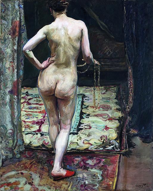 Franz Theodor Max Slevogt: Nudo femminile da tergo