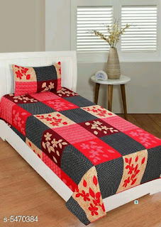 Attractive PolyCotton  58 x 88 Single Bedsheet