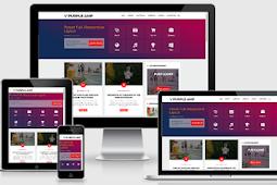 Download Purple AMP Premium Template Blogger - Valid AMP