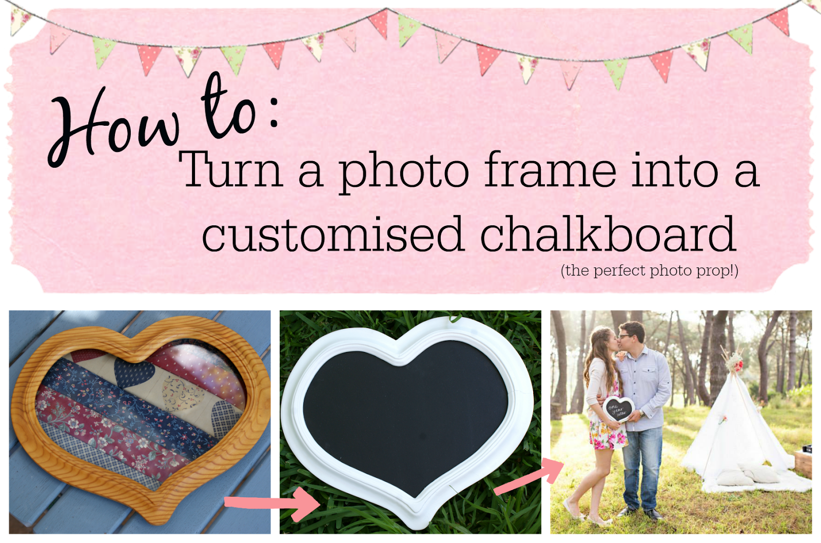 How to make a chalkboard from a photo frame - Custom photo prop DIY/Craft Project Idea