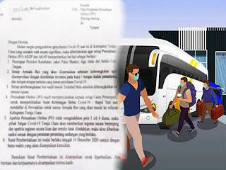Penumpang Bus Tujuan Toraja Utara Wajib Memperlihatkan Rapid Test
