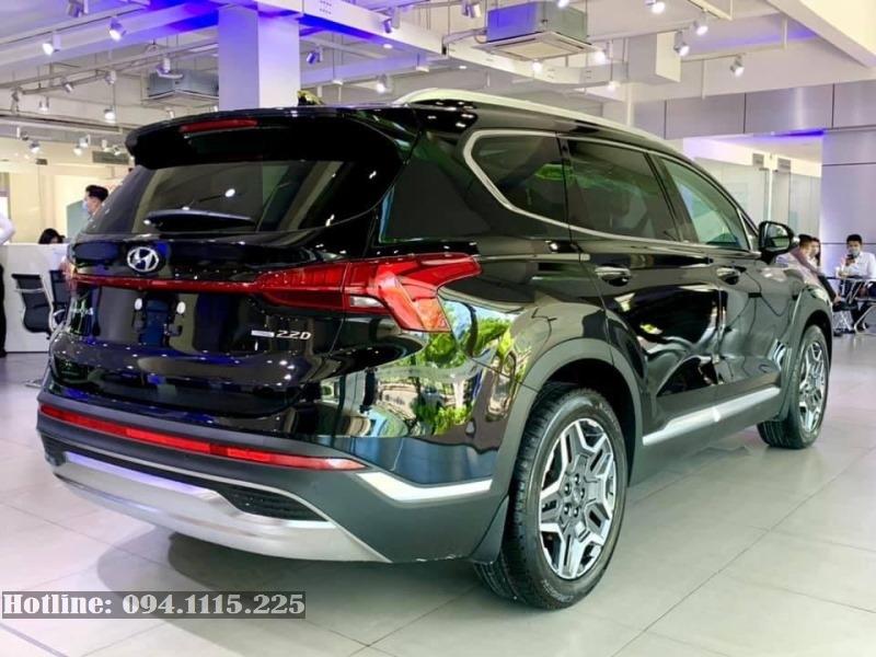 Hyundai Santafe 2021 mới màu Đen