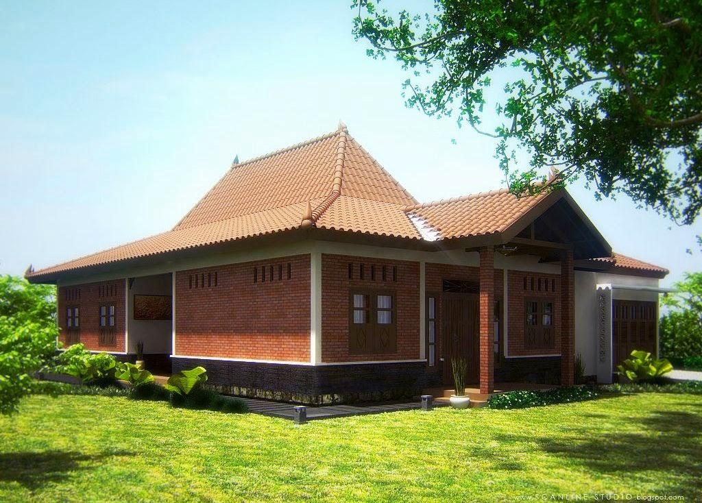 Model Teras Rumah Joglo Sederhana  54 desain rumah sederhana joglo