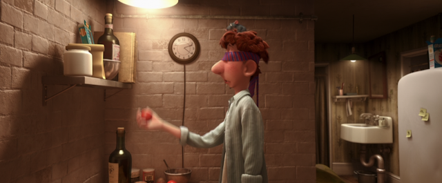 Remy and Linguini Holding a Tomato Blindfolded Ratatouille Pixar