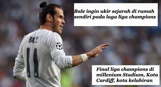 Bale ingin ukir sejarah di rumah sendiri pada laga liga champions