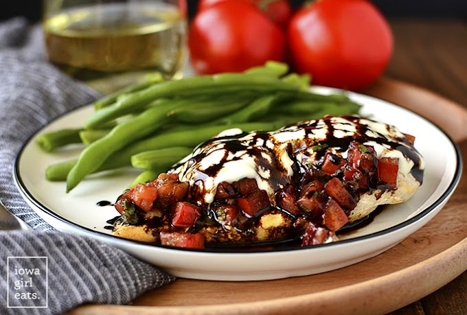 Mozzarella Bruschetta Chicken #dinnerrecipe #food #amazingrecipe #easyrecipe