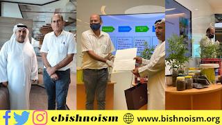 दुबई हेल्थ ऑथोरिटी, दुबई द्वारा बागवानी और कचरे से खाद बनाने की वर्कशॉप आयोजित की गई जिसमें वक्ता के रुप में आर के बिश्नोई ने लिया भाग | Bishnoism.org