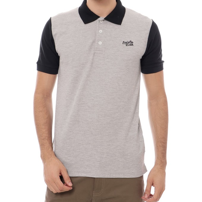Polo Shirt Pria Premium ABU Hand Black