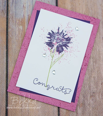 Make in a Moment Congratulations Card featuring the Touches of Texture Stamp Set from Stampin' Up! UK - Get Everything you need to make this card here.