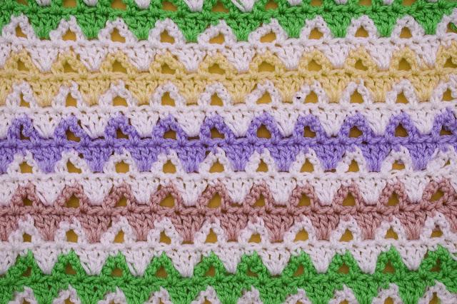 6 -Crochet Imagen Puntada a colores a crochet y ganchillo por Majovel crochet