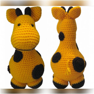 patron amigurumi Gigi, la jirafa crochet y amigurumis
