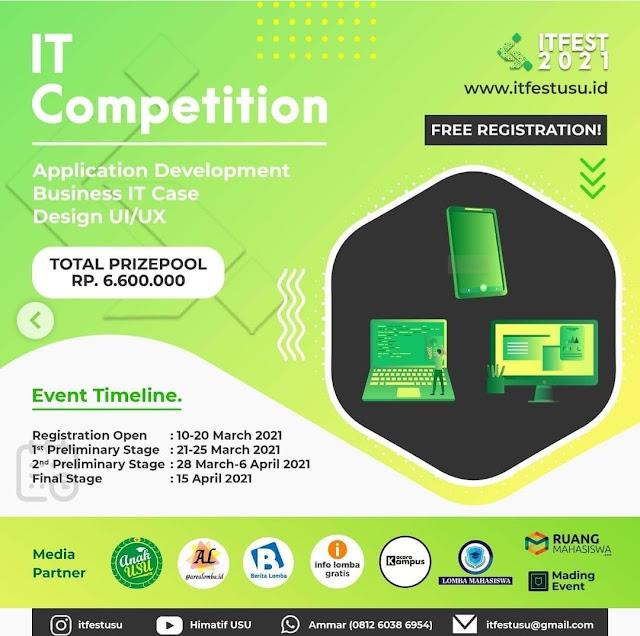 IT dan E-Sport Competition ITFest 2021