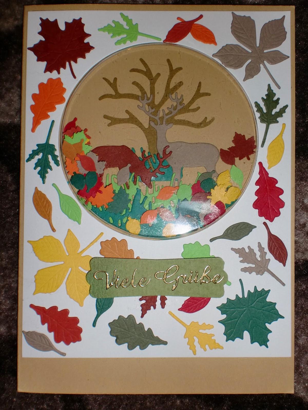 Kleenis bunte Seite: Schüttelkarte zum Thema Herbst