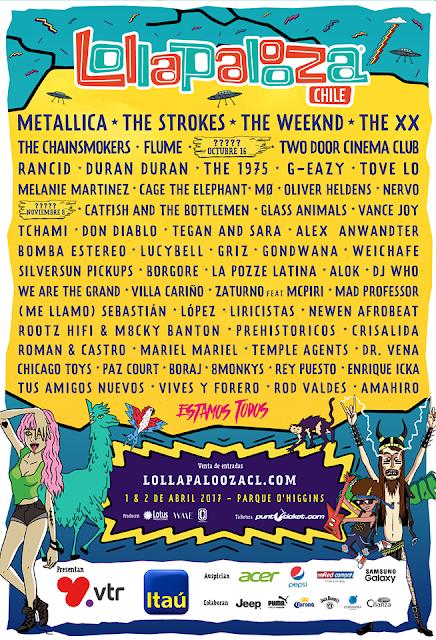 Artistas confirmados para el Lollapalooza Argentina, Brasil y Chile