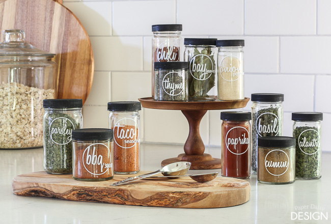 Spice jar label printables