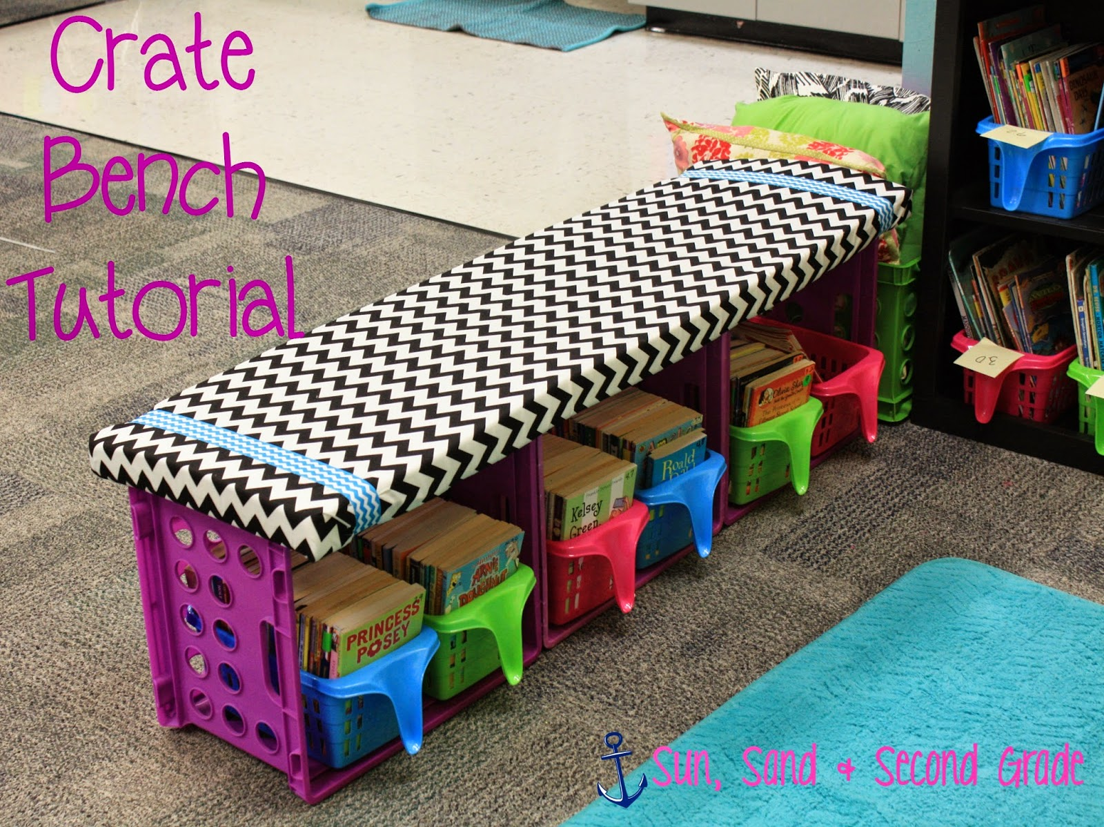 Sun Sand Amp Second Grade Classroom Project Crate Bench