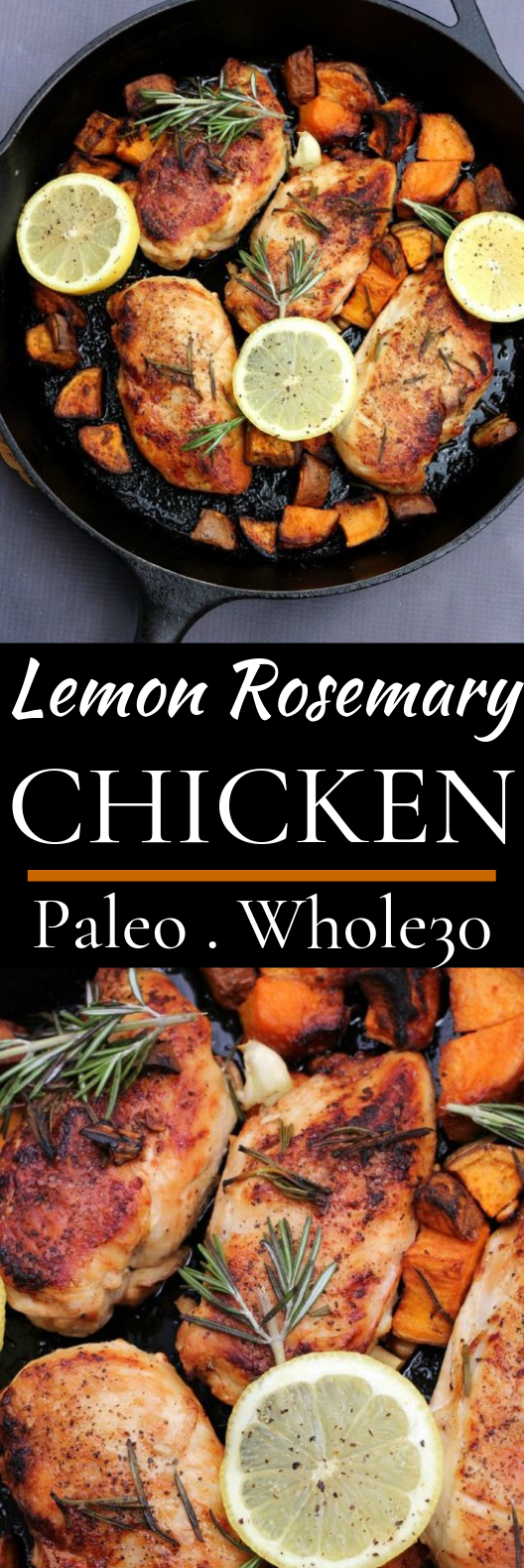 Lemon Rosemary Chicken #healthy #paleo