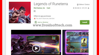 Legends of Runeterra in Google Playstore
