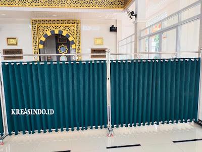 Harga atau Jual Hijab Masjid Stainless atau Pembatas Sholat atau Partisi Masjid Terbaru [ Harga Update Mei 2021 ]