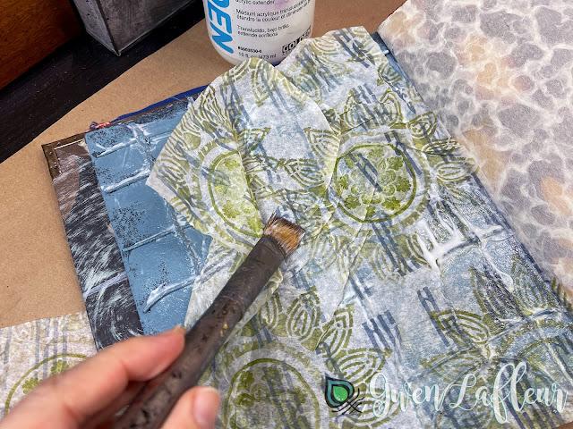 Textural Art Journaling with Stencils - Tutorial Step 2 - Gwen Lafleur