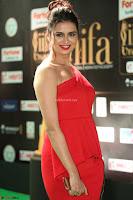 Meenakshi Dixit in Red One Shoulder Red Zipped up gown at IIFA Utsavam Award 67.JPG