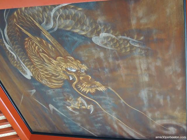 Pintura de Dragón en el Omizu-Ya en el Templo Sensoji