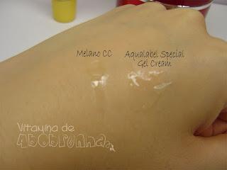 Aqualabel special gel cream Shiseido Melano CC resenha