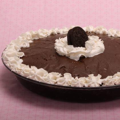 Pie Recipes: Chocolate Cream Pie with Oreo Crust Recipe